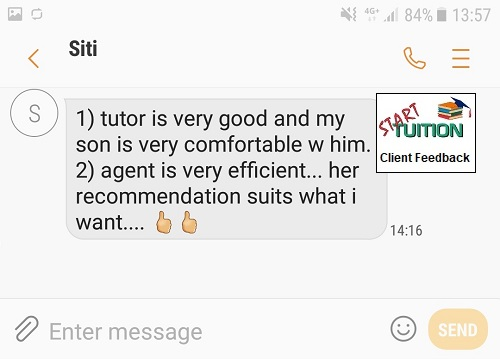 Review from Siti: agent is very efficient... her recommendation suits what I want..