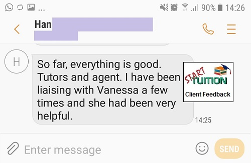 Review from Han: So far, everything is good. I have been liaising with Vanessa a few times and she had been helpful.