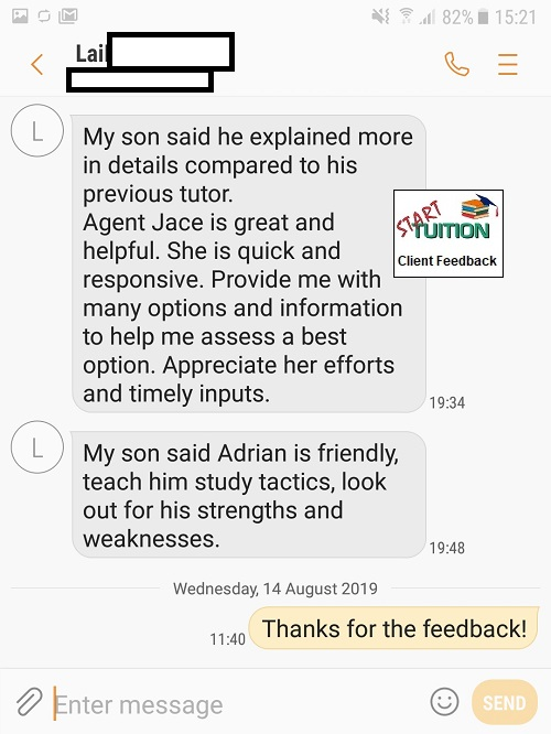 Review from Lai: Jace is great and helpful. She is quick & responsive. Provide me with  many options and information to help me assess a best option. Appreciate her efforts and timely inputs.